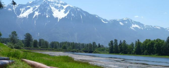Beautiful view of Mt Cheam as seen from Agassiz British Columbia